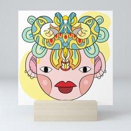 Let's wear a mask Mini Art Print