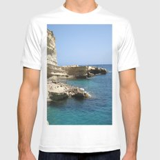 Rocks MEDIUM Mens Fitted Tee White