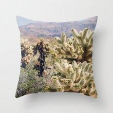 Joshua Tree Cactus Garden Throw Pillow