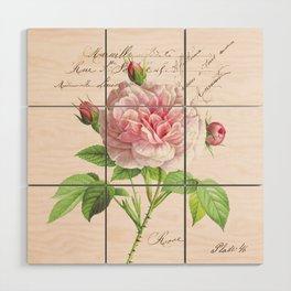 Paris Rose Wood Wall Art