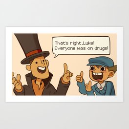 Professor Layton and the Diabolical box Art Print