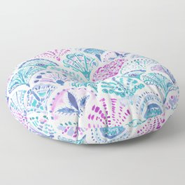 SHELL OUT Boho Mermaid Scales Floor Pillow