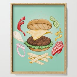 Burger Mandala Serving Tray