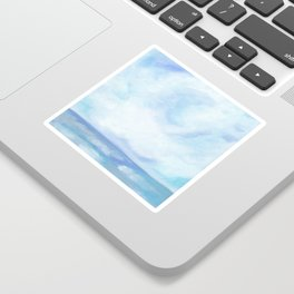 Warm Fall Days - Tropical Ocean Seascape Sticker