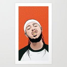 Malone, Post Art Print