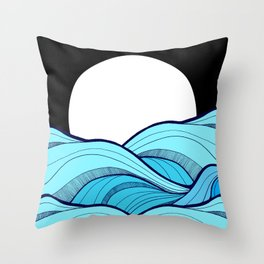 Lines in the waves Throw Pillow