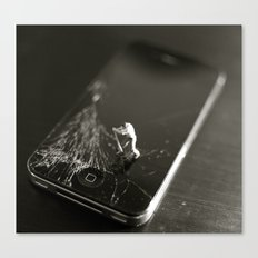 Broken Smartphone Canvas Print