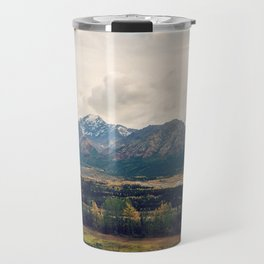 Fall Alaskan Mountain Crisp Landscape Travel Mug