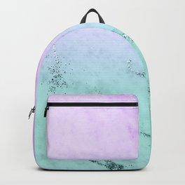 Unicorn Mermaid Girls Glitter Marble #1 #decor #art #society6 Backpack