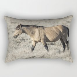 The Self-Assured Saunter of a Stallion Rectangular Pillow