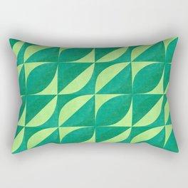 Geo Green Leafs Rectangular Pillow