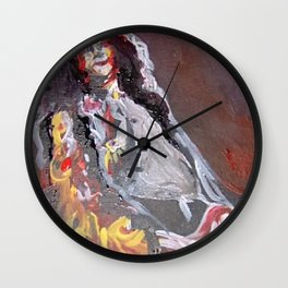 Turn to Page Wall Clock