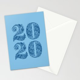 Happy Floral 2020 Classic Blue Stationery Cards