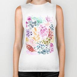 cornelia. watercolor florals. Biker Tank