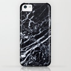 Real Marble Black iPhone 5c Slim Case