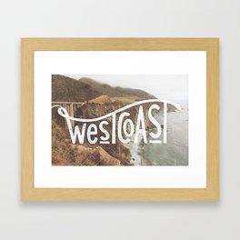 West Coast - BigSur Framed Art Print
