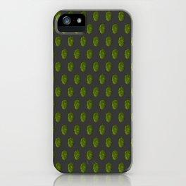 Hops Dark Gray Pattern iPhone Case