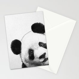 peekaboo panda Stationery Cards