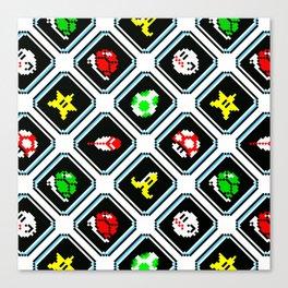 Super Mario Kart | items pattern Canvas Print