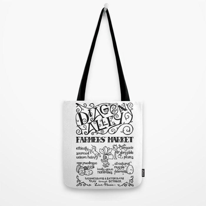 Diagon Alley Farmers' Market Tote Bag