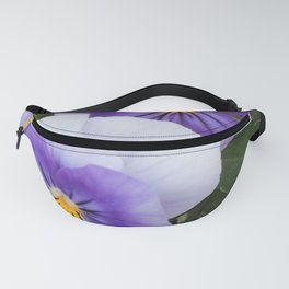 Blue Pansies Fanny Pack