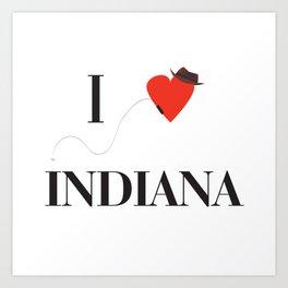 I heart Indiana Art Print