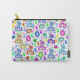 Easter Bunny Rainbow Party Carry-All Pouch