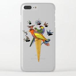 BIRDS ICE CREAM Clear iPhone Case