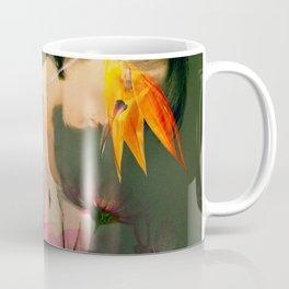 Woman between flowers / La mujer entre las flores Coffee Mug