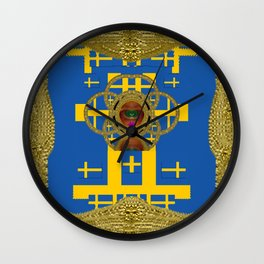 Lady Pandas Flag Day,every day Wall Clock