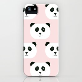 Panda Love -Pink iPhone Case