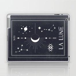 The Moon or La Lune Tarot Laptop & iPad Skin