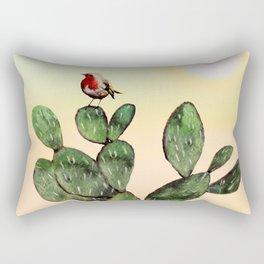 Cactus and a Bird Rectangular Pillow