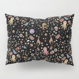 Dreams & Nightmares (on Designer Black Background) Pillow Sham