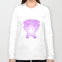 gengar Long Sleeve T-shirts featuring scratchy gengar  by cavia
