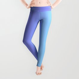 Blue & Violet Pastel Stripes | Cute ombre gradient pattern Leggings