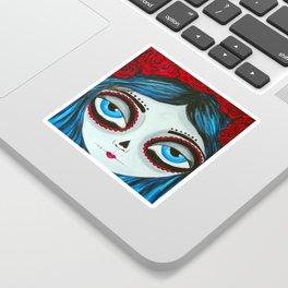 Muertos Girl in Blue Sticker