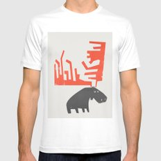 Grumpy Canadian Moose White MEDIUM Mens Fitted Tee