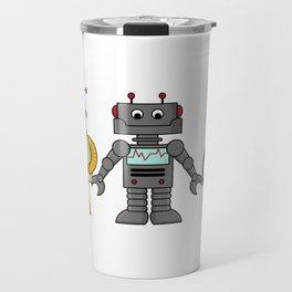 The Three Robots,  A Trio Of Retro Robots Travel Mug