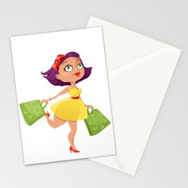 Shopping Girl Stationery Cards