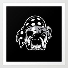 Pirate Dog Art Print