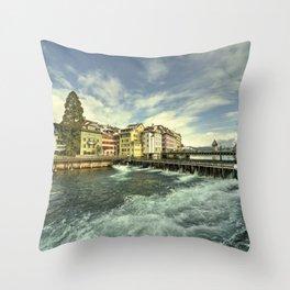 Weir of Lucerne Throw Pillow