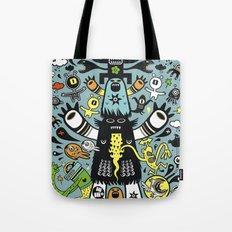 Guru Cat (blue time) Tote Bag