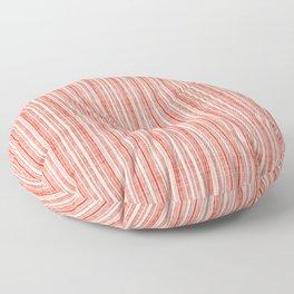 Vintage Red Stripe Floor Pillow