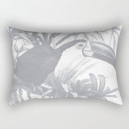 Toucans and Bromeliads - Sharkskin Grey Rectangular Pillow