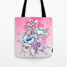 Poppy Bouquet- Pink Tote Bag