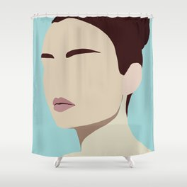 Amelia - modern minimal portrait Shower Curtain