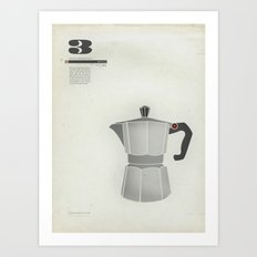 Coffee Contraption #3: Moka Art Print