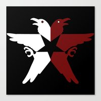 infamous Canvas Prints featuring Infamous Eagles by Rebekhaart