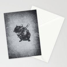 Angry street art mouse / hamster (baseball edit) Stationery Cards